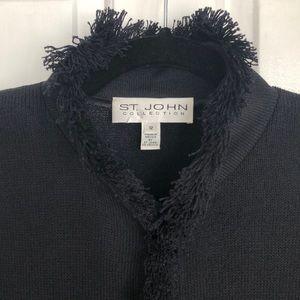 St. John Collection Rockstar Santana Fringe Jacket